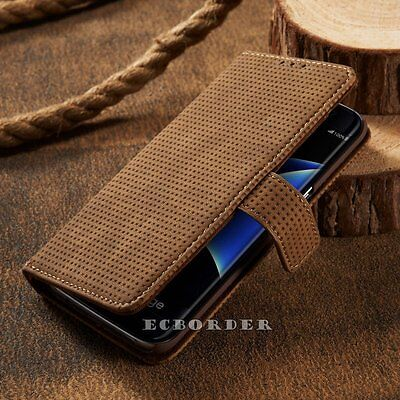 Genuine PU Leather Magnetic Flip Wallet Phone Cover Case For Samsung S8 S8 Plus