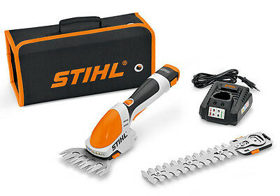 Stihl HSA25 Cordless Battery Hedge Shears With Shrub & Grass Trimmer Attachments