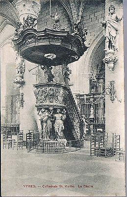 BELGIAN POSTCARD Ypres THE CATHEDRAL OF ST MARTIN THE PULPIT C1910