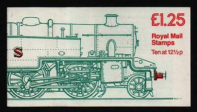 FK6Aa TANK ENGINE corrected rates  STAMP BOOKLET £1.25 LEFT LM   superb perfs
