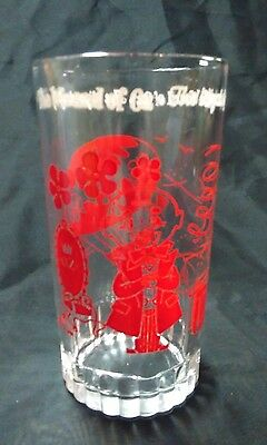 Vintage 1950's Wizard Of Oz Swift Peanut Butter Glass THE WIZARD OF OZ