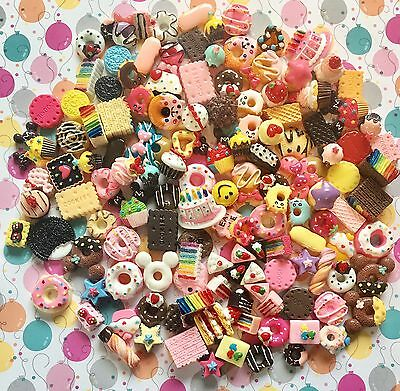 New Assorted Cabochons Cake, Cookies,Wafers,Flatback Embellishments READ LISTING