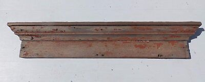 Antique Window Door Header Pediment Shabby Vtg Chic Red Country 413-17R