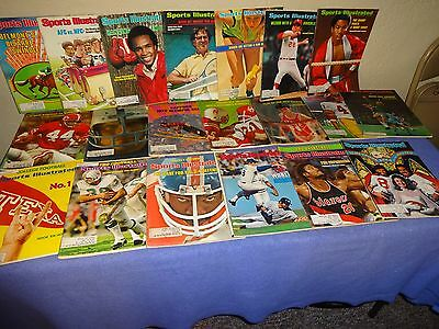 SPORTS ILLUSTRATED MAGAZINE Lot of 40 from the 1970's Lot 4-19-5