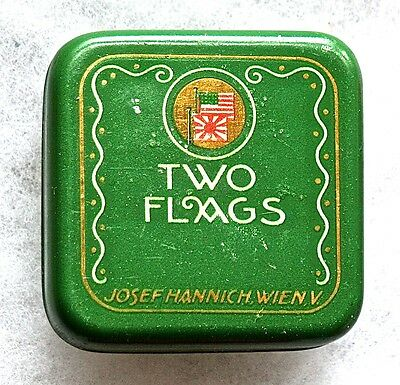 Two Flags Typewriter Ribbon Tin--Vienna, Austria