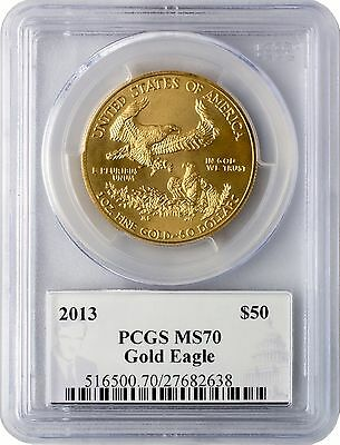 2013 $50 Gold Eagle PCGS MS70 - Diehl Label
