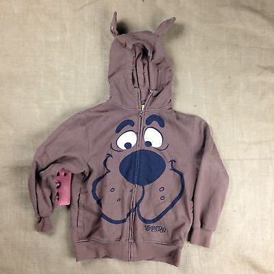 SCOOBY DOO Youth Hoodie Jacket Brown With Doggy Ears & Full-Zip Size M 10/12
