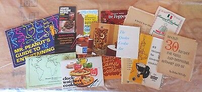 Vintage Lot of 14 Recipe Advertising Cookbook Booklets/Clippings