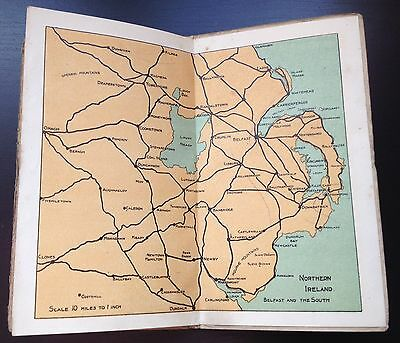 Vintage Belfast County Down Road Map Post Card Wallet Mid C20th Northern Ireland