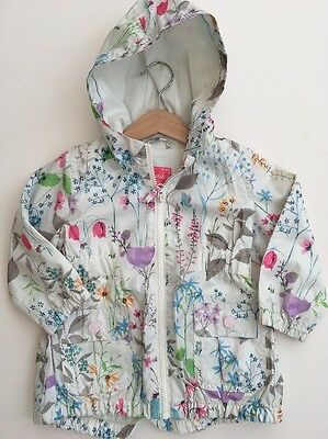 *NEXT* Girls Floral Print coat Jacket (12-18 Months) Hood A625