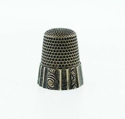 Antique Waite - Thresher Co Providence, RI Sterling Thimble Ornate Scroll  10
