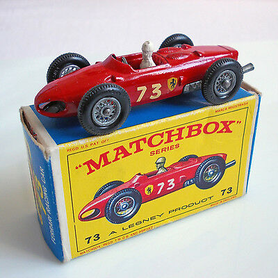 Matchbox Lesney Serie # 73  Ferrari Racing Car  In Ovp !!  Top Rarität !