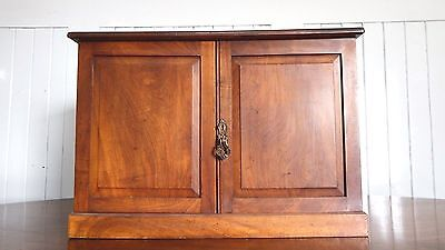 Antique Victorian walnut desk top / wall cupboard / cabinet