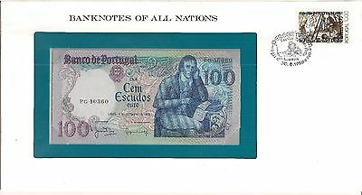 BANKNOTES OF ALL NATIONS Portugal 100 Escudos Crisp Uncirculated in Envelope
