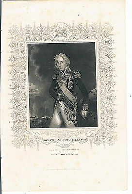 Engraving Horatio Viscount Nelson Ob 1805