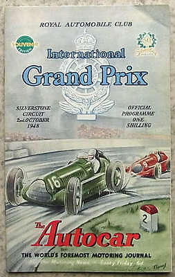 INT'L GRAND PRIX Silverstone F1 1948 FORMULA ONE Reproduction Race Programme