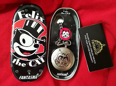 FELIX THE CAT Pocket Watch - Fantasma - Brand New in Collector Tin