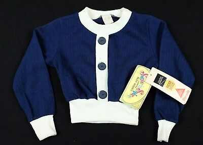 Vtg 1970s Sugar 'n Spice Baby/Toddler Sweater Sz 6 faux button down