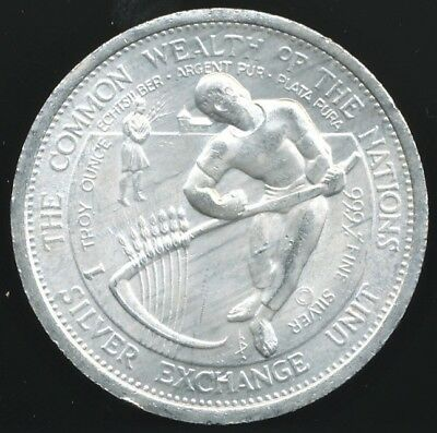 Common Wealth Of The Nations 1 Troy Oz. .999 Fine Silver Bullion Round