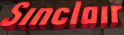 LIGHTED SINCLAIR LETTER SIGN from gas station w/ long-lasting LEDs, new driver