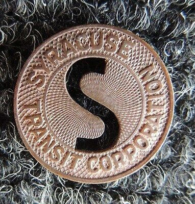 Syracuse  N.Y.  Transit Corp. ,  Good  For  1  Fare       Transportation Token