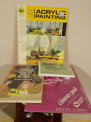 Canvas Pad, Canvas Panels and The Art pf Acrylic Painting,Learn How to Oil Paint
