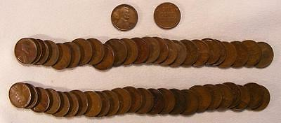 Roll Of 50 1927-D Lincoln Wheat Cents!!  Very Nice Coins!!