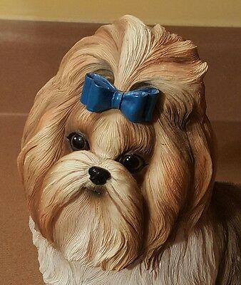 Large Danbury Mint Shih Tzu  Dog Figurine Statue