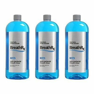BreathRx Anti-Bacterial Mouthwash Mouth Rinse (33 fl. oz/976 mL) - 3 Pack