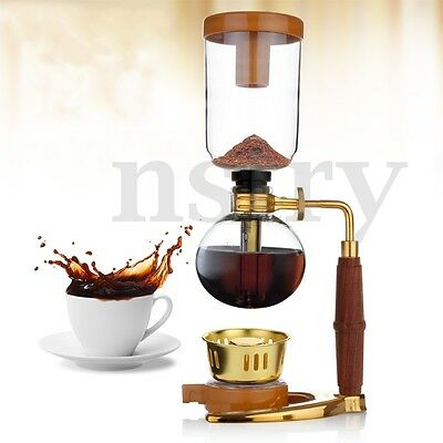 Coffee Cold Drip Maker Dripper Vacuum Glass Ice Dutch Brew Serves For 3 Cups Set