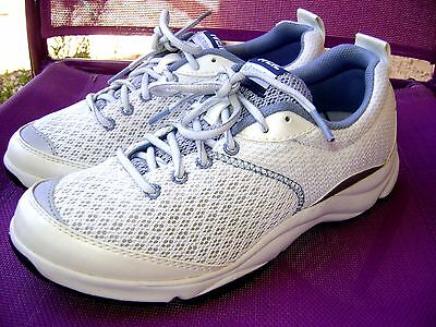 """Dr. Weil """"rhythm"""" Orthaheel Walking Sneakers Shoes White/blue Women's Size 7.5 M"""