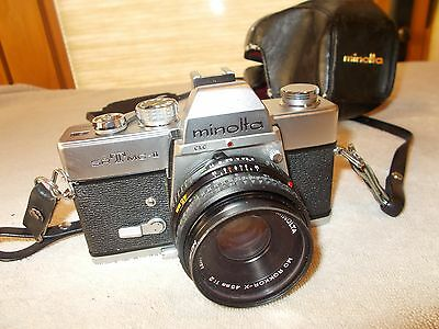 Minolta  SR T MC II 35mm Camera with Rokkor Lens
