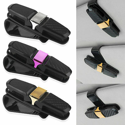 Vehicle ABS Car Fastener Glasses Sunglasses Card Ticket Holder Clip Universal GT