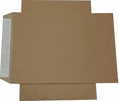 100 Pieces Envelopes DIN B4 Brown Without Windows Self-Adhesive Envelopes HK