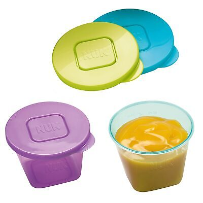 NUK Pack Of 6 Stackable BPA Free Baby Feeding Storage Pots / Containers