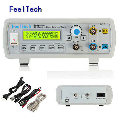 FeelTech 6-24M CNC Dual-CH DDS Function Signal Generator Sweep Frequency Counter