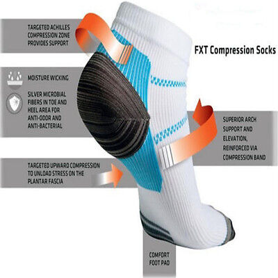 1Pair Foot Compression Sock for Plantar Fasciitis Heel Spurs Pain Sport Sock RG