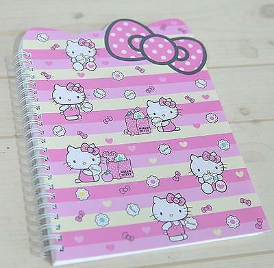 Hello Kitty Ribbon Notebook School Supply  Stationery Stripe