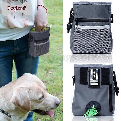 Pet Dog Puppy Obedience Training Treat Bag Feed Bait Food Snack Pouch Belt Bags