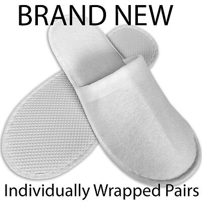 Spa Hotel Guest Slippers Closed Toe Towelling Disposable Terry Style New