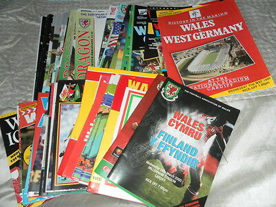 Wales International Home Programmes 1980 - 2003 - Choose From List