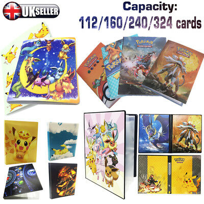 Pokemon Cards Album Book List Card Collectors 324Pcs Capacity Cards Holder Gift