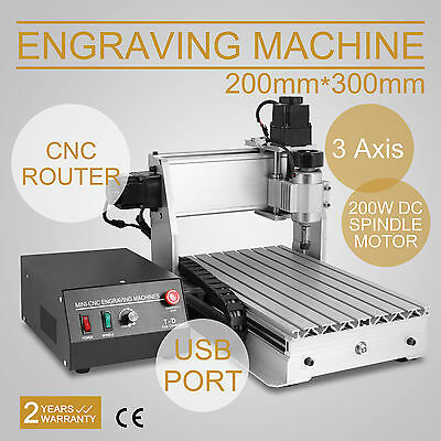 3 AXIS CNC Router Engraver 3D Engraving Drilling Milling Machine 300W 3020