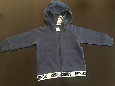 BONDS baby blue zip up jacket. Size 0 (6-12 months). RRP $29.95. NEW with tags.