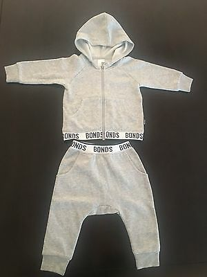BONDS baby grey tracksuit set. Size 0 (6-12 months). RRP $52.90. NEW with tags.
