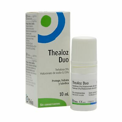THEALOZ DUO EYE DROPS 10ml  MADE IN FRANCE EXP.DATE 01/2020