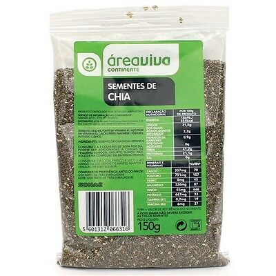 Healthy Food Natural & Organic 100% Pure Chia Seeds - 150gr by Área Viva