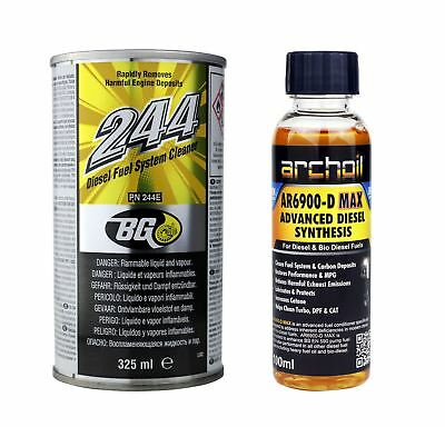 BG 244 Diesel Fuel Cleaner For Diesel Only - 325ml & 1 x AR6900-D Max 100ml