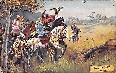 POSTCARD  SPORT  OLD  ENGLISH   Falconry                  Tuck