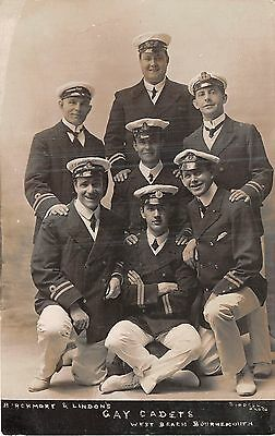 POSTCARD  DORSET   BOURNEMOUTH  THEATRE  GAY  CADETS   West  Beach  RP